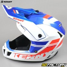 Helmet cross Kenny Performance PRF blue, white and red