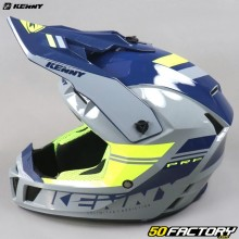 Helmet cross Kenny Performance PRF gray and neon yellow