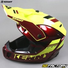 Helmet cross Kenny Performance PRF red and neon yellow