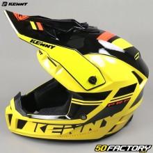 Casque cross Kenny Performance PRF jaune et noir