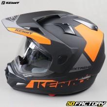 Black and orange matte Kenny Extreme enduro helmet