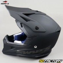 Casco cross Swap's Blur S818 nero opaco