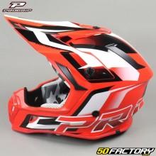 Helmet cross Progrip 3180 red and white