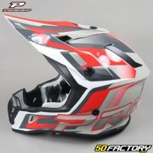 Helmet cross Progrip 3180 red and gray