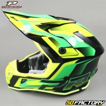 Helmet cross Progrip 3180 green and yellow