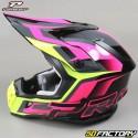 Helmet cross Progrip 3180 black and fuchsia