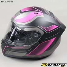 Full face helmet S-Line S441 Venge matte black and pink