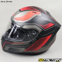 Full face helmet S-Line S441 Venge matt black and red