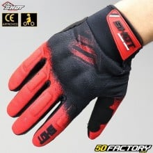 Gloves cross Shot Smoke CE approved red motorcycle
