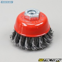 Silverline 75mm Twisted Steel Wire Cup Brush