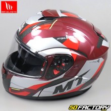 Casque modulable MT Helmets Atom SV rouge