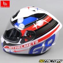Casque intégral MT Helmets Stinger GP rouge, bleu et blanc