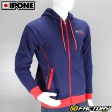 Sweatshirt mit Kapuze Ipone 100% Motorrad blau Größe S