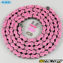 Reinforced 420 chain 138 pink KMC links