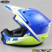 Casco cross HJC CS-MX II Ellusion MC2SF blu e giallo neon
