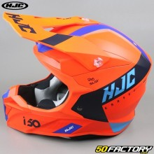 Casque cross HJC I50 Erased MC6HSF orange et bleu