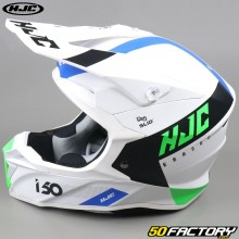 Casco cross  HJC I50 Erased MC24SF  bianco e verde