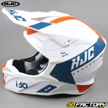 Casco cross  HJC I50 Erased MC47SF  bianco e arancione