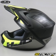 Casco cross HJC CS-MX II Ellusion MC5SF nero e giallo neon