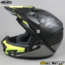 Casco cross bambino HJC CL-XY II Ellusion MC5SF nero e giallo neon