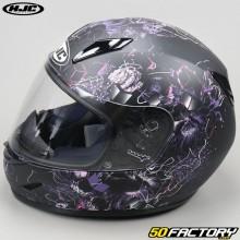 Children's full-face helmet HJC CL-Y Vela MC8SF black and pink