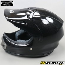 Casco cross Tornado  JST negro brillante