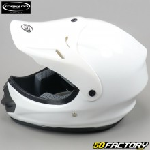 Casco cross Tornado  JST blanco brillante