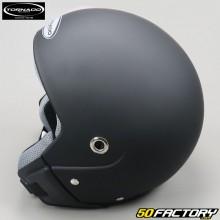 Jet helmet vintage Tornado Matte Black