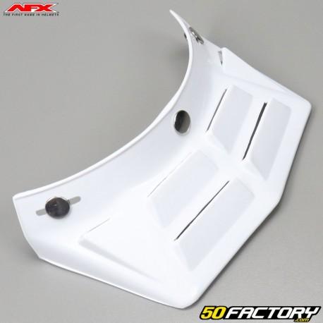 Visera de casco vintage  AFX FX-78 blanco liso con respiraderos 6