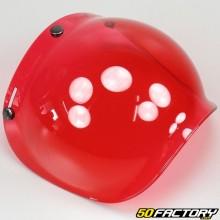 Bubble visor for helmet vintage red