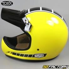 Casque vintage Torx Brad Legend Racer jaune brillant