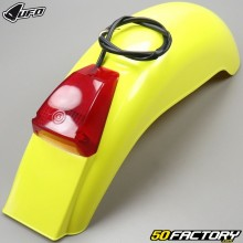 Rear mudguard vintage with Villa FV type light (1975 to 1979) UFO fluorescent yellow