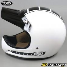 Casco vintage Torx Brad Legend Racer bianco brillante