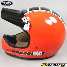 Casco vintage Torx Brad Legend Racer rosso vivo