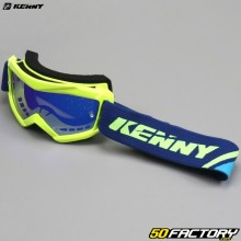 Goggles Kenny Track+ fluorescent yellow iridium screen blue child size