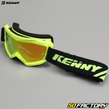 Goggles Kenny Track+ fluorescent yellow iridium screen red child size