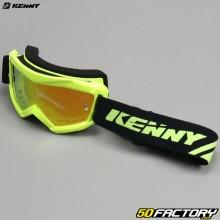 Óculos Kenny Track+ tela de irídio amarelo fluorescente vermelho tamanho infantil