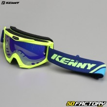 Goggles Kenny Track+ fluorescent yellow blue iridium screen