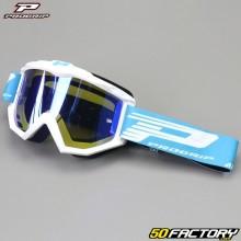 Goggles Progrip Atzaki Mirror white blue iridium screen