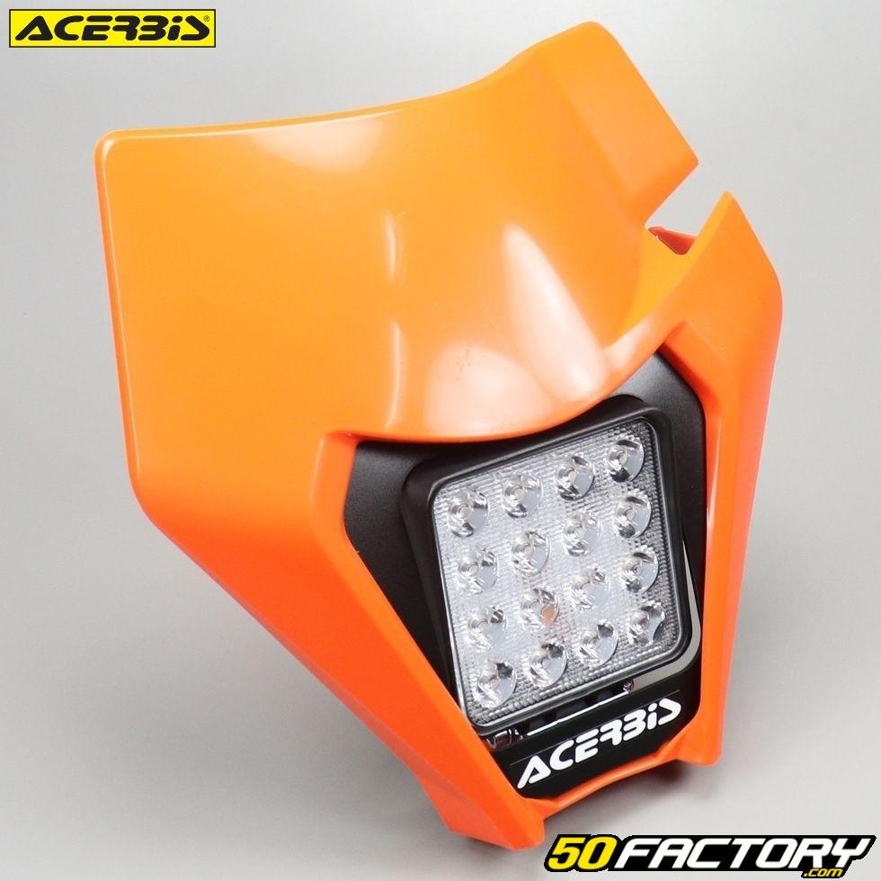 Plaque Phare Type Ktm Acerbis Led Orange Pièce Moto 50cc 125cc