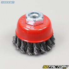 Silverline 65mm Twisted Steel Wire Cup Brush