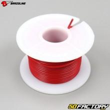 Fil électrique 0.75mm universel Brazoline rouge (25 mètres)
