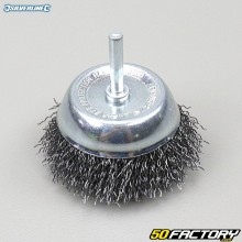 Cup brush with corrugated steel wires Silverline 75mm