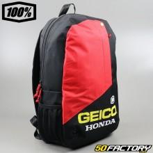 Mochila preta e vermelha 100% Geico Honda