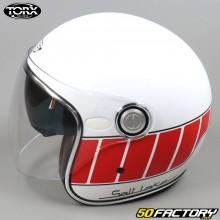 Jet helmet Torx Salt Lake white and red