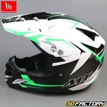Casque cross enfant MT Helmets MX-2 Steel noir et vert