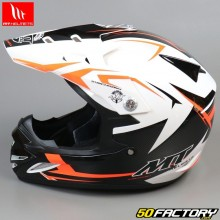 Casque cross enfant MT Helmets MX-2 Steel noir et orange
