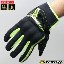 Gloves Street Five RS3  black and neon yellow