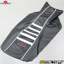 Seat cover Derbi Senda,  Gilera SMT,  RCR... (from 2011) KRM Pro Ride blanche
