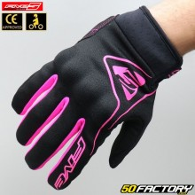 Five Globe women's black and neon pink gloves